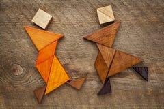 Figuras do tangram da dança Imagem de Stock