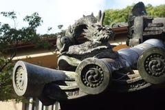 Figuras do telhado no templo de Yakushi-ji Fotos de Stock Royalty Free