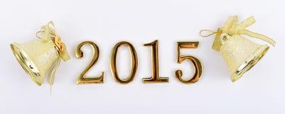 Figuras dos 2015 anos novo em um fundo branco Imagens de Stock Royalty Free