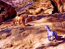 Figuras dos cavalos imagem de stock royalty free