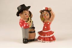 Figuras dos dançarinos Fotografia de Stock