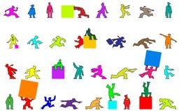 Figuras dos desenhos animados Fotografia de Stock Royalty Free