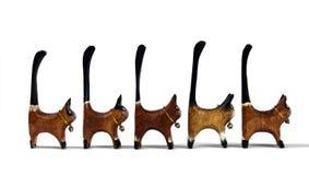 Figuras dos gatos Fotografia de Stock Royalty Free