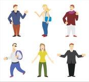 Figuras dos povos ilustração royalty free
