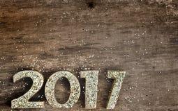 2017 figuras douradas Imagem de Stock Royalty Free