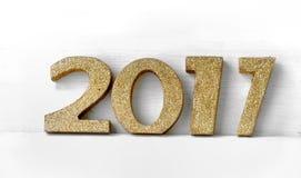 Figuras douradas 2017 Fotografia de Stock