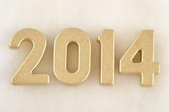 figuras douradas de 2014 anos Fotografia de Stock Royalty Free