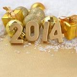 figuras douradas de 2014 anos Imagens de Stock Royalty Free