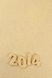 figuras douradas de 2014 anos Fotos de Stock Royalty Free