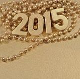 figuras douradas de 2015 anos Foto de Stock