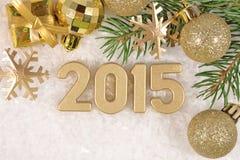 figuras douradas de 2015 anos Imagem de Stock Royalty Free