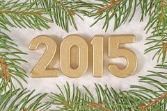 figuras douradas de 2015 anos Fotografia de Stock