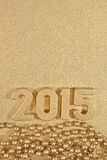 figuras douradas de 2015 anos Fotos de Stock