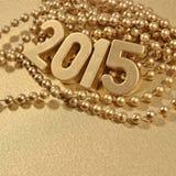 figuras douradas de 2015 anos Foto de Stock Royalty Free