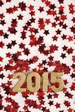 figuras douradas de 2015 anos Imagem de Stock