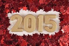 figuras douradas de 2015 anos Imagens de Stock