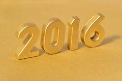 figuras douradas de 2016 anos Imagem de Stock
