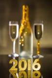 figuras douradas de 2016 anos Imagem de Stock Royalty Free