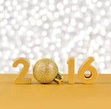 figuras douradas de 2016 anos Imagens de Stock Royalty Free
