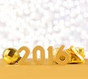 figuras douradas de 2016 anos Foto de Stock Royalty Free