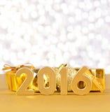 figuras douradas de 2016 anos Fotos de Stock Royalty Free