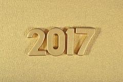 figuras douradas de 2017 anos Foto de Stock Royalty Free