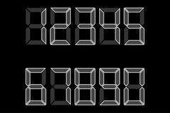Figuras electrónicas esquema blanco de números una copia de la calculadora 1, 2, 3, 4, 5, 6, 7, 8, 9, 0 Ilustración del vector libre illustration