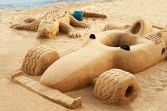 Figuras en la playa Fotos de archivo libres de regalías