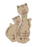 Figuras engraçadas do gato Imagens de Stock