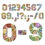 Figuras enrrolladas del número de las letras Fotografía de archivo libre de regalías