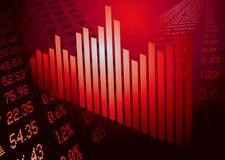 Figuras financieras rojo del gráfico