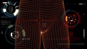 Figuras futuristas de HUD y del humanoid metrajes