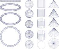 Figuras geométricas Imágenes de archivo libres de regalías