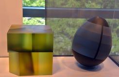 Figuras geométricas abstractas de cristal Imagen de archivo libre de regalías
