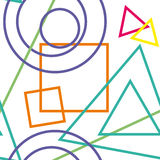 Figuras geométricas abstractas fondo Textura inconsútil Imagen de archivo