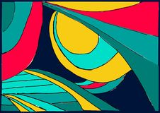 Figuras geométricas abstratas coloridas - brilhantes e divertimento ilustração do vetor