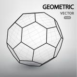 Figuras geométricas construidas por una rejilla Imagen de archivo