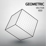 Figuras geométricas construidas por una rejilla Foto de archivo