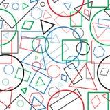 figuras geométricas del color inconsútil del modelo del ejemplo Imagen de archivo libre de regalías