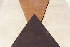 Figuras geométricas en textura del color de la pared del yeso Imágenes de archivo libres de regalías