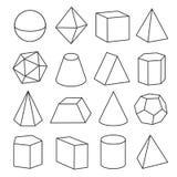 Figuras geométricas isométricas Fotos de Stock Royalty Free