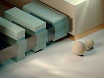 figuras geométricas projeto mínimo moderno do estúdio 3D ilustração stock
