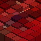 Figuras geométricas Quadrados vermelhos Ilustração abstrata Eps 10 do vetor ilustração stock
