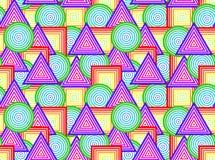 Figuras geométricas - sem emenda ilustração stock