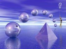 Figuras geométricas superficie por encima de la superficie stock de ilustración