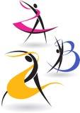 Figuras ginásticas Fotografia de Stock Royalty Free