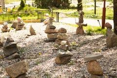Figuras hechas de piedras Foto de archivo