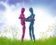 Figuras hug do manequim ilustração stock