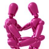 Figuras hug do manequim ilustração royalty free