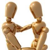 Figuras hug do manequim ilustração do vetor